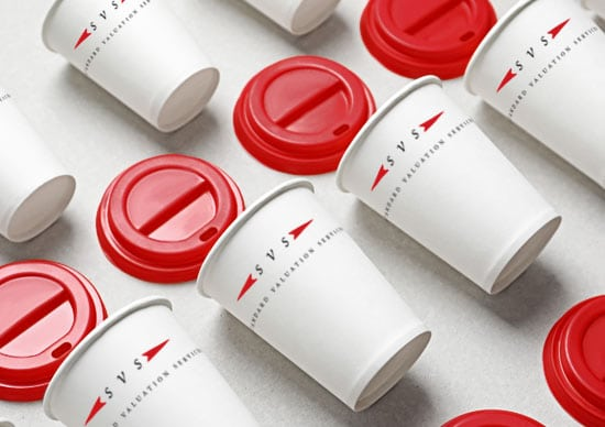 Appraisal Company Logo and Identity Design on Cups