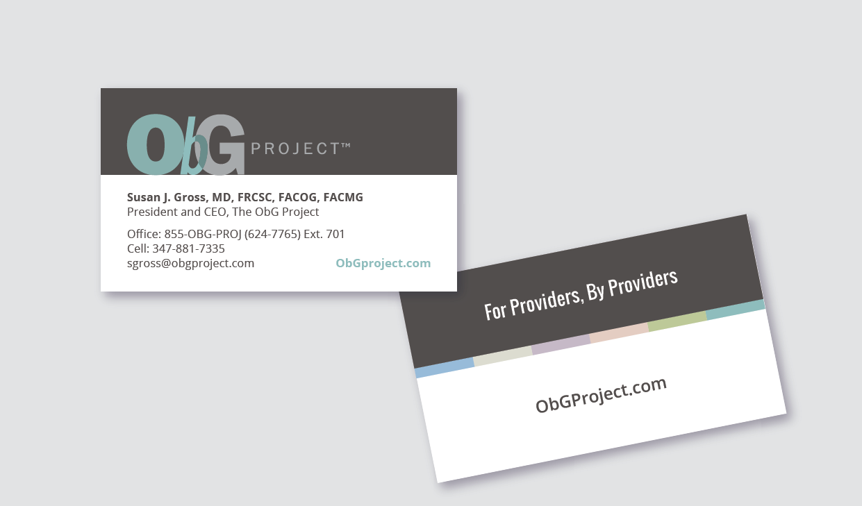 Womens Health Blog Logo and business card