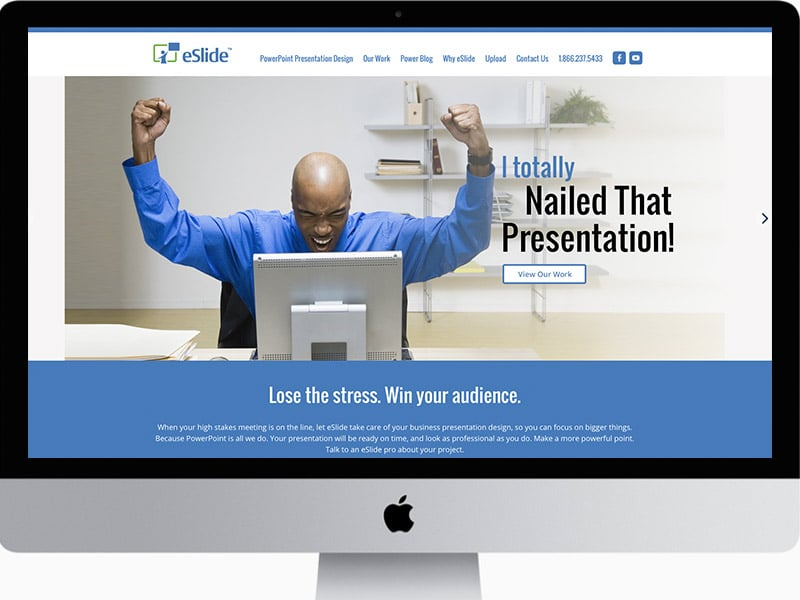 Website Home Page Design Slide Presentation Company